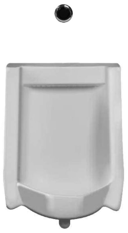 Sloan WEUS-1010.1011 Efficiency 0.125 GPF Urinal with Rear Spud Placement and Ro