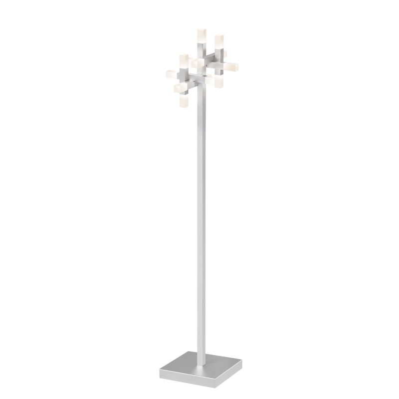 Sonneman 2145 Connetix 13 Light LED Floor Lamp with White Shade