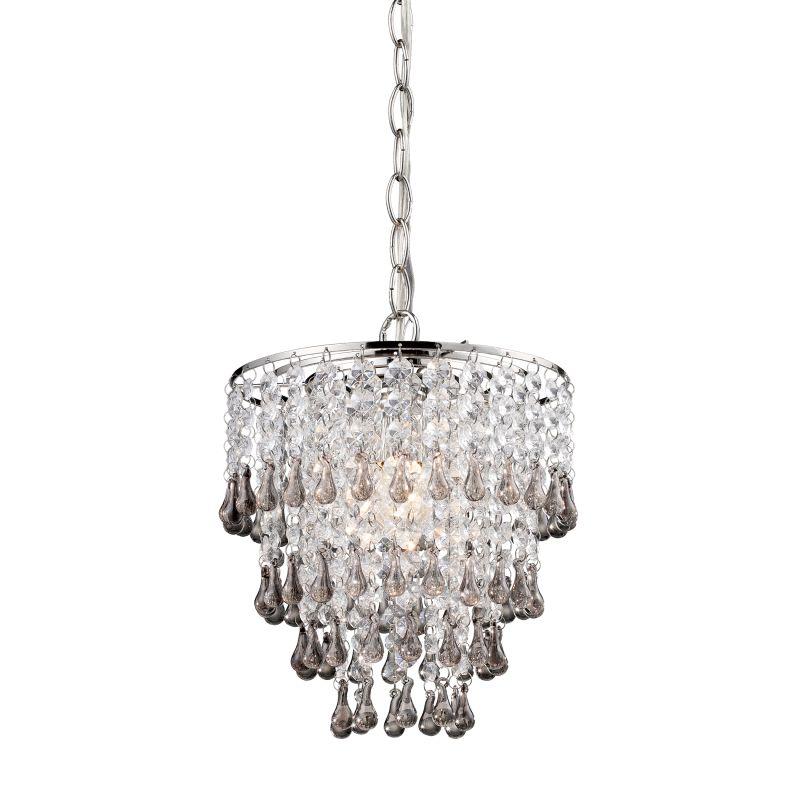 Sterling Industries 122-006 1 Light Drum Crystal Pendant with Teak Droplets (Indoor Lighting Pendants) photo