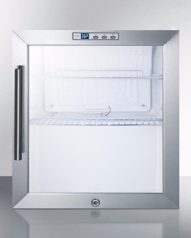 Summit SCR215L 17 Inch Wide 1.7 Cu. Ft. Commercial Compact Refrigerator with Sta photo