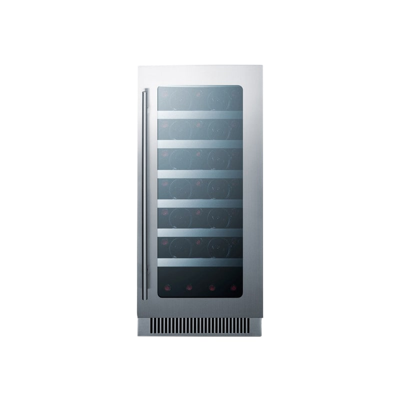 Summit CL15WC 34 Bottle 15 Built-In Seamless Cabinet Single Zone Wine Cooler photo