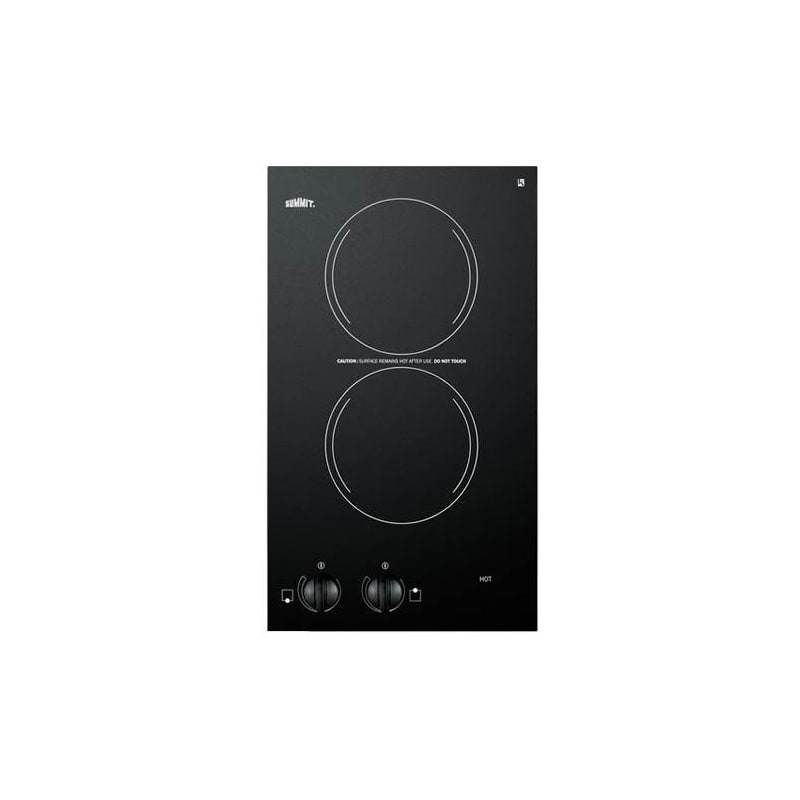 Summit CR2110 12 Inch Wide 120V Built In Electric Cooktop with Black Ceramic Gla photo