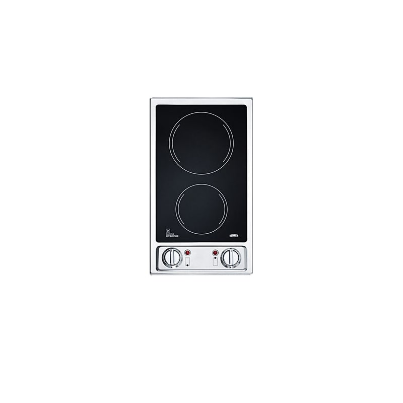 Summit CR2B120 Two-Burner 120V Electric Glass Cooktop photo
