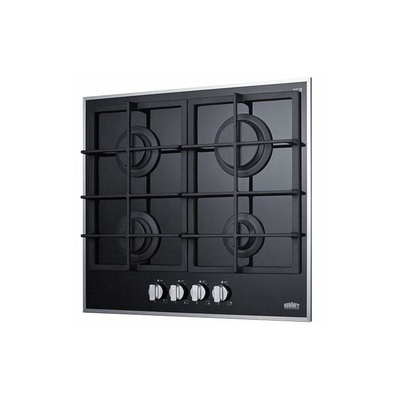 Summit GC424BGL 4-Burner Gas-On-Glass Cooktop W/Sealed Burners & Cast Iron Grate photo