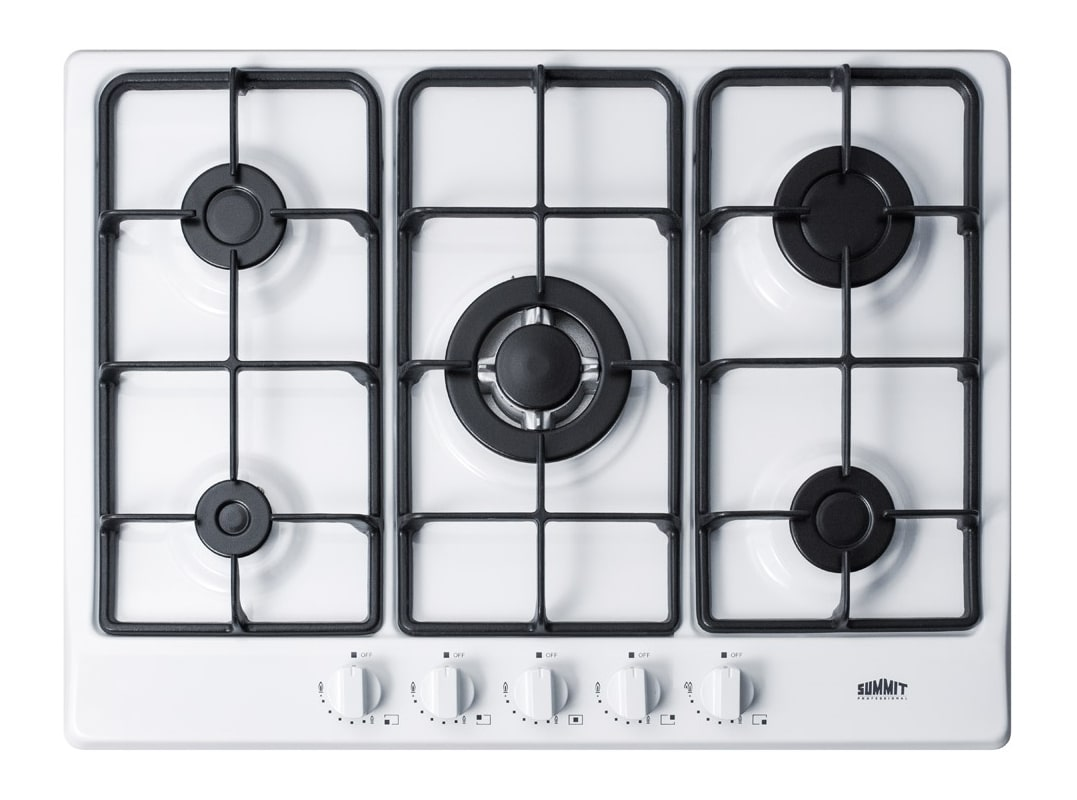 Summit GC527 27 Inch Wide Built-In Gas Cooktop with Sealed Sabaf Burners and Dua photo