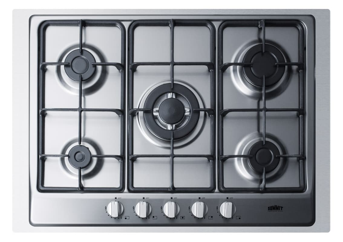 Summit GC527TK 30 Inch Wide Built-In Gas Cooktop with Sealed Sabaf Burners, Dual photo