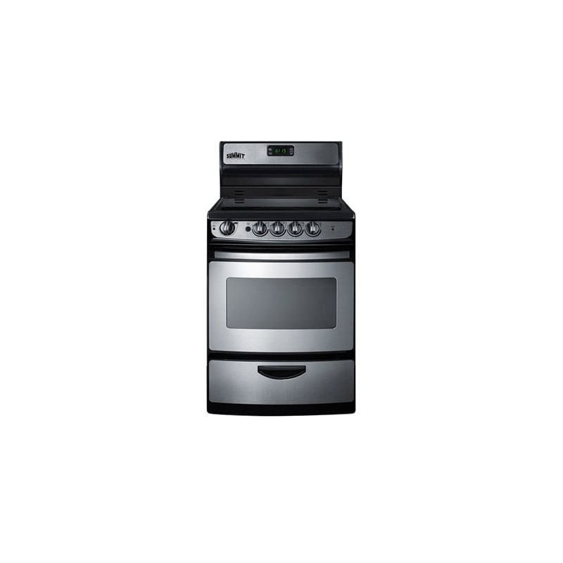 Summit REX245 24 Electric Range with Backguard - Stainless Steel photo
