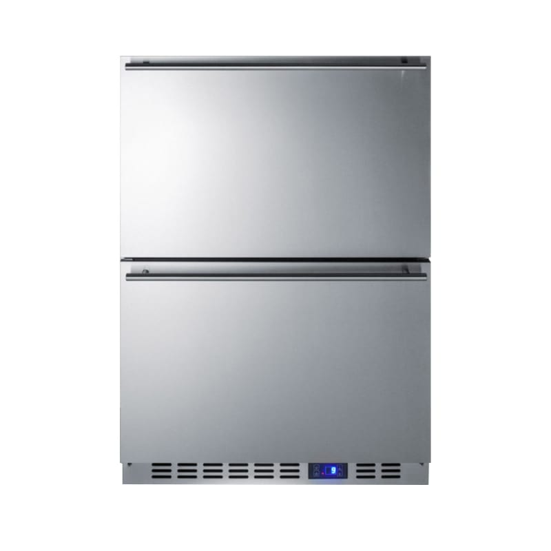 Summit SCFF532D 24 Inch Wide 3.54 Cu. Ft. Two-Drawer Counter Depth Freezer photo