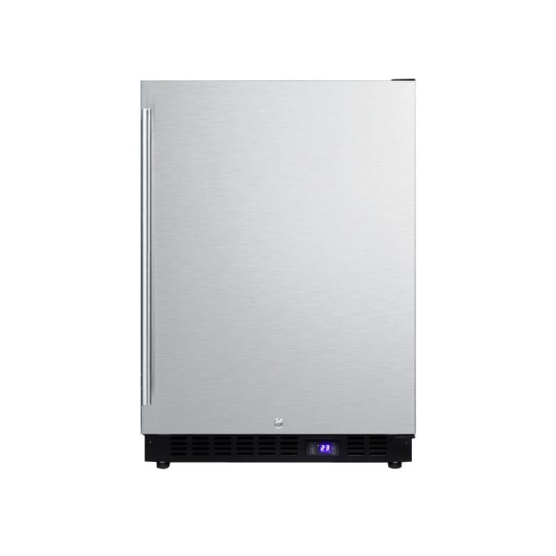 Summit SCFF53BSSIM 24-Inch Built-In Freezer with Lock and Ice Maker - Stainless photo