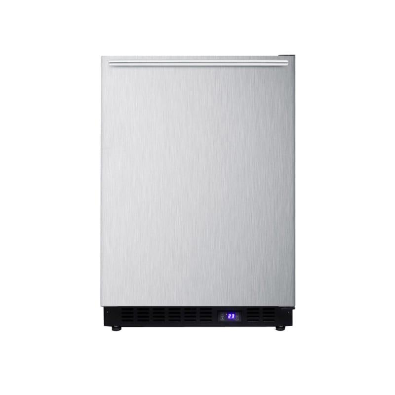 Summit SCFF53BXSSHHIM 24-Inch Built-In Freezer with Ice Maker - Horizontal Handl photo