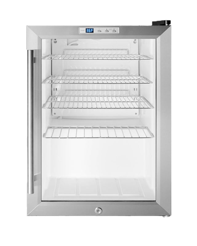 Summit SCR312L 17 Inch Wide 2.5 Cu. Ft. Freestanding Merchandiser Refrigerator w photo