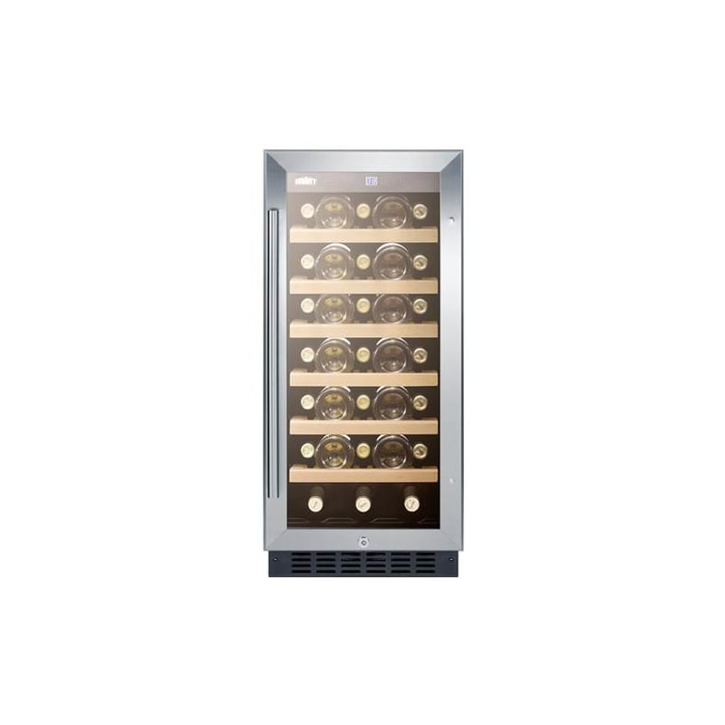 Summit SWC1535B 33 Bottle 15 Built-In Single Zone Wine Cooler photo