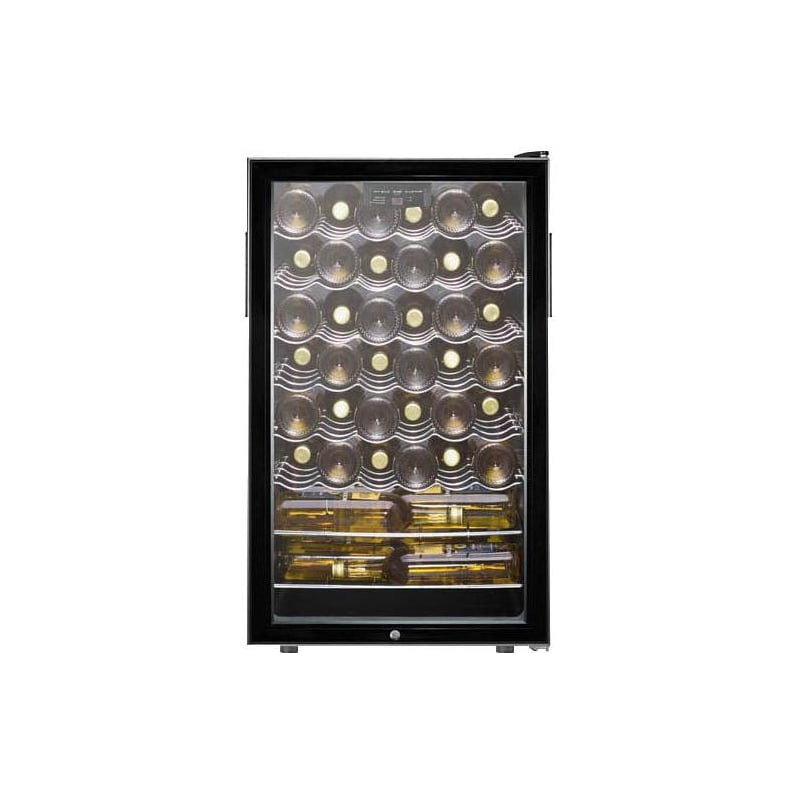 Summit SWC525LBI 42 Bottle 20 Inch Wide Built-In Single Zone Wine Cellar with Fr photo