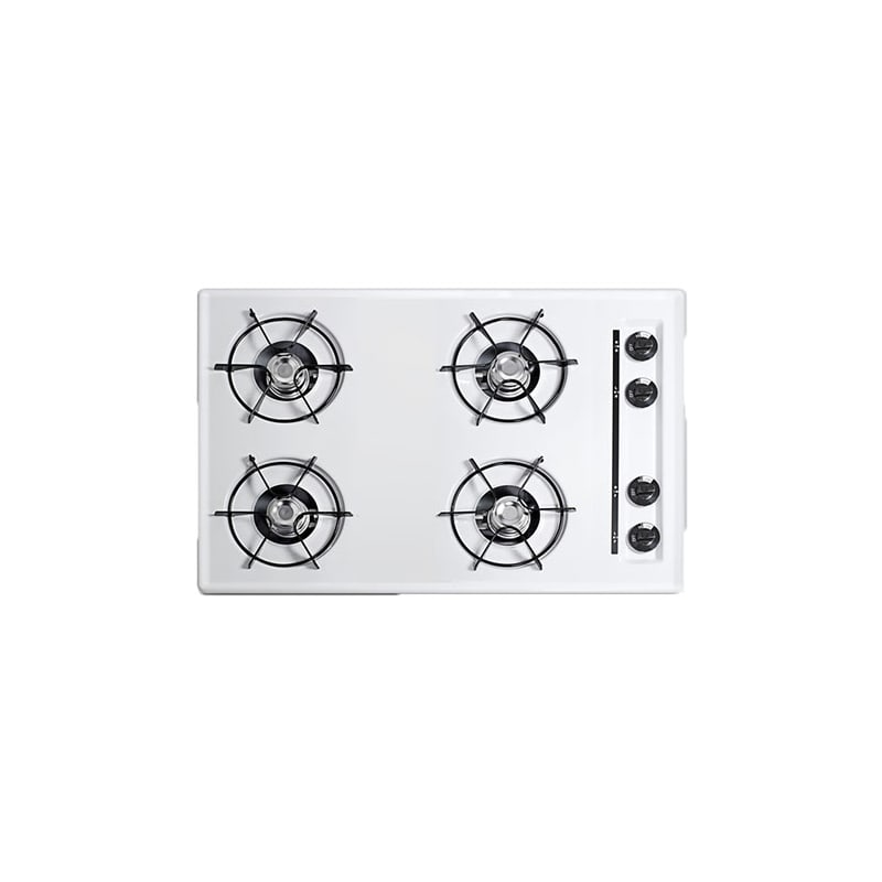 Summit WNL053 30 Four-Burner Gas Cooktop in White photo
