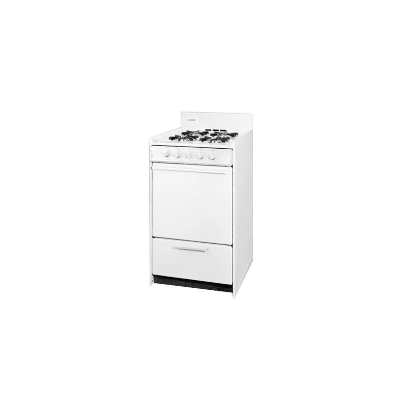 Summit WNM1107 20 Inch Wide 2.46 Cu. Ft. Free Standing Gas Range With Electric I photo