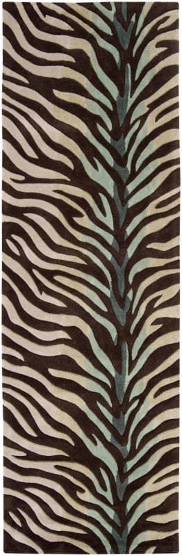 Surya COS8865-268 Cosmopolitan 3' x 8' Runner Synthetic Hand Tufted Animal Print
