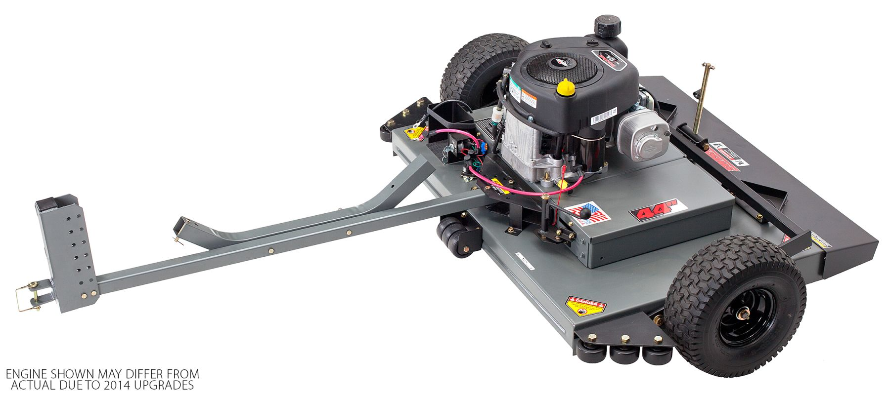 Tow Behind Finish Cut Trail Mower with 44 Inch Cutting Width - Swisher FCE11544BS