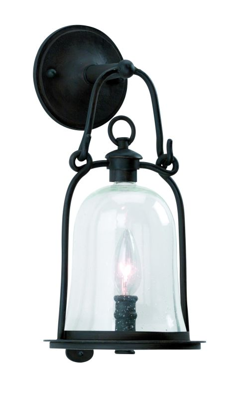Troy Lighting B9461 Owings Mill 1 Light Outdoor Wall Sconce with Seedy Glass photo