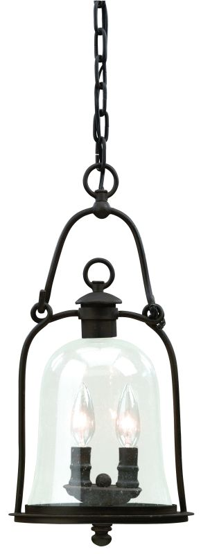 Troy Lighting F9466 Owings Mill 2 Light Outdoor Pendant with Seedy Glass photo