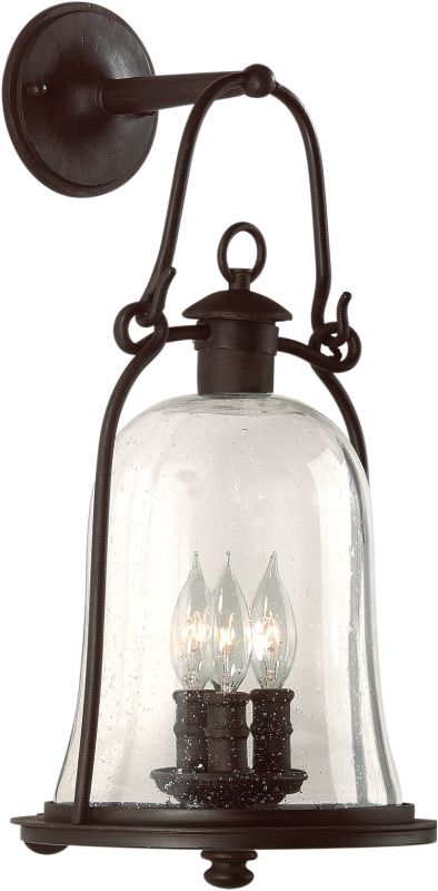 Troy Lighting B9463 Owings Mill 3 Light Outdoor Wall Sconce with Seedy Glass photo