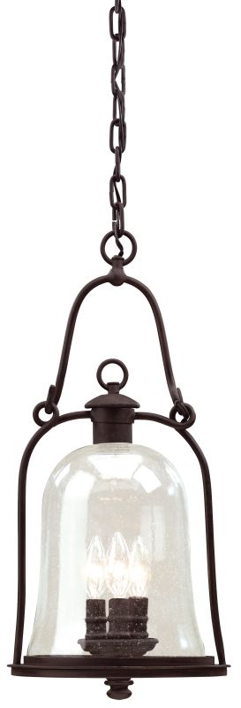 Troy Lighting F9467 Owings Mill 3 Light Outdoor Pendant with Seedy Glass photo