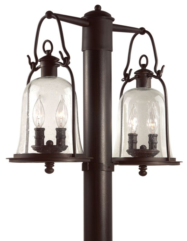 Troy Lighting P9464 Owings Mill 4 Light Post Light with Seedy Glass photo