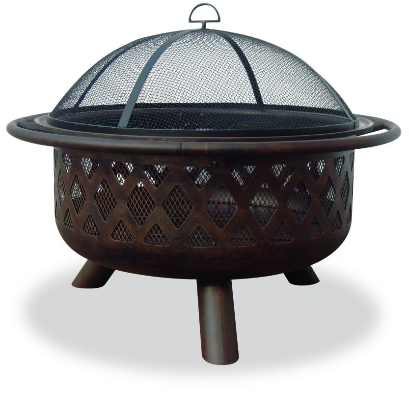 "Uniflame WAD792SP 32"" Outdoor Firepit with Criss-Cross Design Firepit, Firepits, Fire Pit, Outdoor Fireplace, Gas Firepit, Metal Firepit, Stone Firepit"