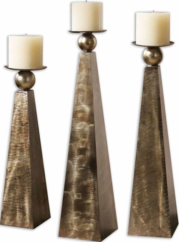 Uttermost 19652 Cesano Set of 3 Candle Holders