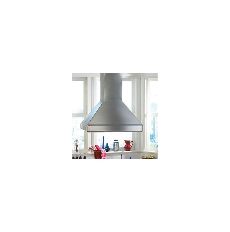 Vent-A-Hood ISDH18-242 550 CFM 42 Euro-Style Island Mounted Range Hood with Hal