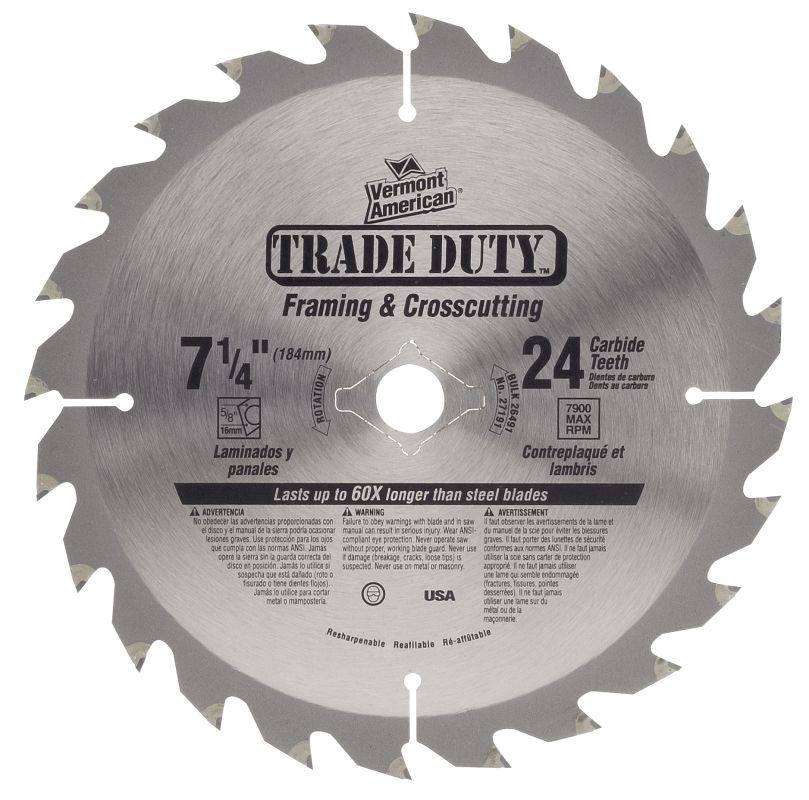UPC 045325271919 - Vermont American 27191 Circular Saw Blades 7-1/4 ...