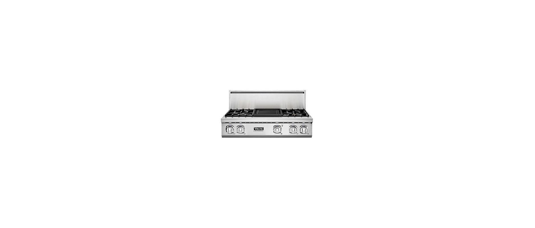 Viking VGRT7364G 36 Inch Wide Built-In Natural Gas Cooktop with Elevation Burner photo