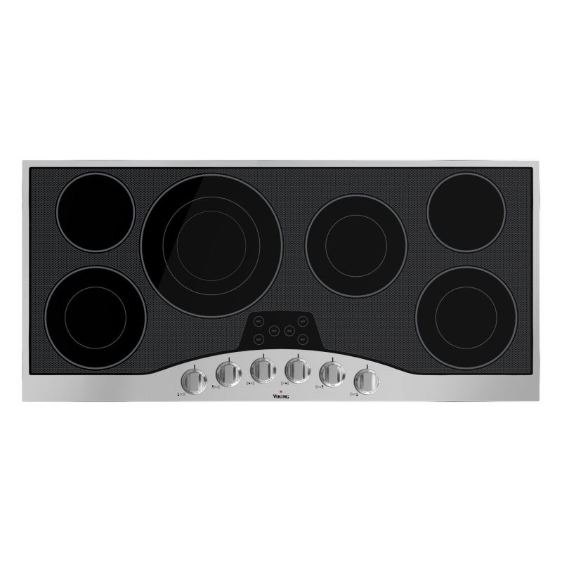 Viking RVEC3456B 45 Inch Wide Built-In Electric Cooktop with QuickCook Surface E photo