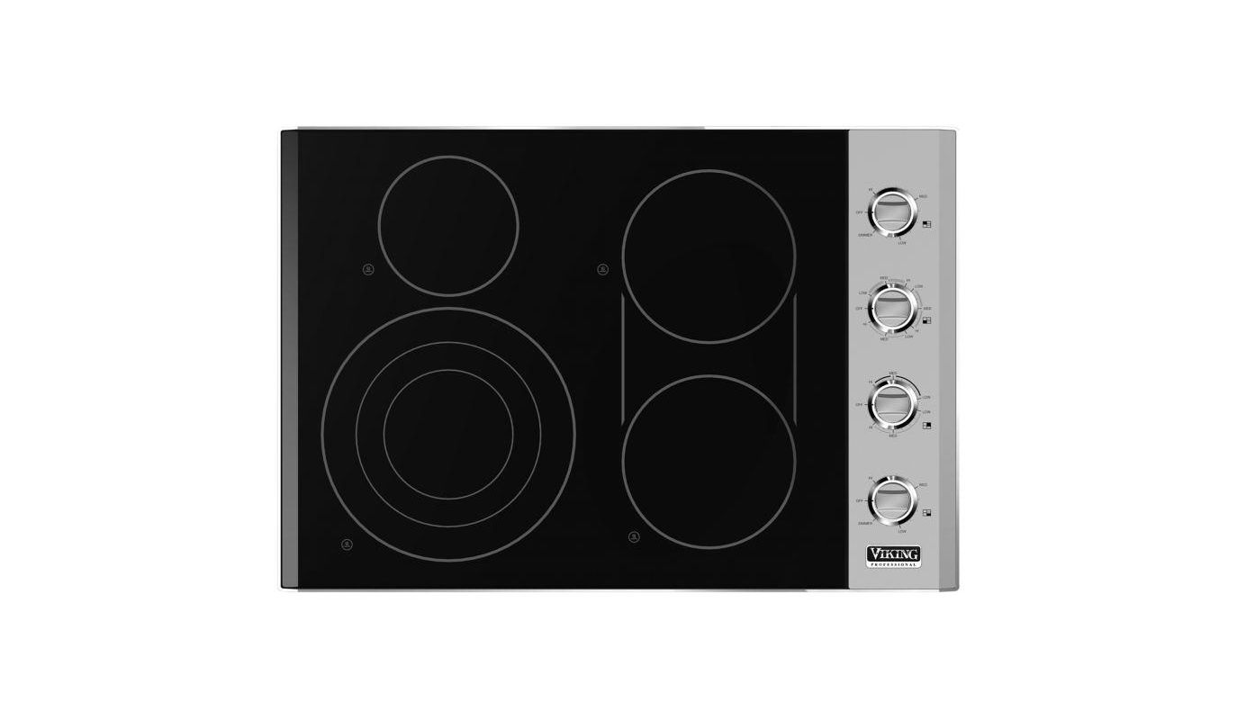 Viking VEC5304B 30 Inch Wide Built-In Electric Cooktop with QuickCook Surface El photo