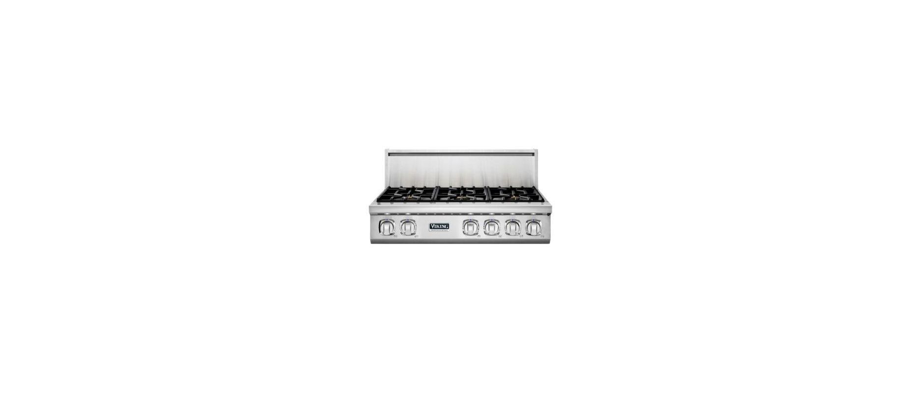 Viking VGRT7366BLP 36 Inch Wide Built-In Liquid Propane Gas Cooktop with Elevati photo