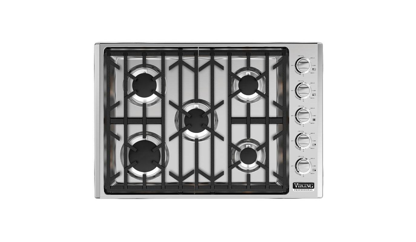 Viking VGSU5305BLP 30 Inch Wide Built-In Liquid Propane Gas Cooktop with Permane photo