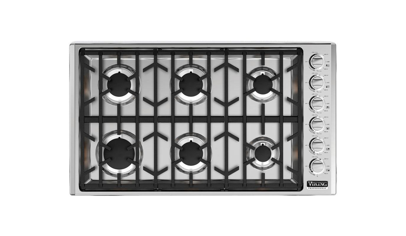 Viking VGSU5366B 36 Inch Wide Built-In Natural Gas Cooktop with Permanently Seal photo