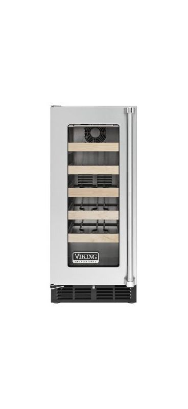 Viking VWCI5150GL 15 Inch Wide 24 Bottle Capacity Undercounter Wine Refrigerator photo