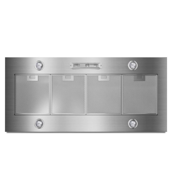 Whirlpool UXL6048YSS 48 Inch Wide Custom Hood Insert with Halogen Lighting and N photo
