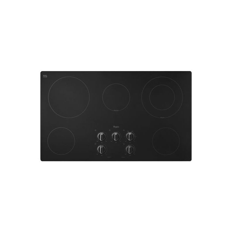 Whirlpool W5CE3625A 36 Inch Wide Electric Cooktop with Easy-Wipe Ceramic Glass photo