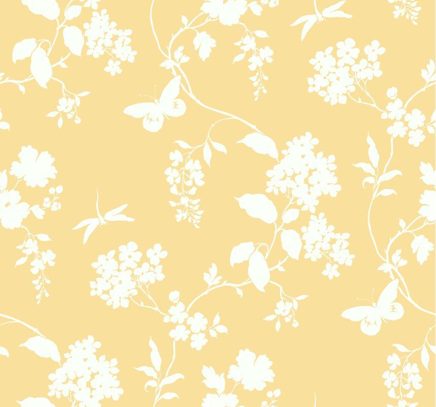 York Wallcoverings AP7425 Orange and Yellow Book Scenic Vines Wallpaper