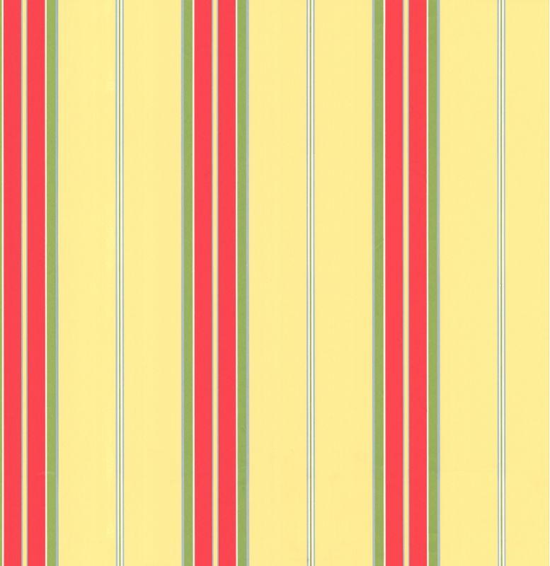York Wallcoverings CJ2953 Orange and Yellow Book Bay Stripe Wallpaper