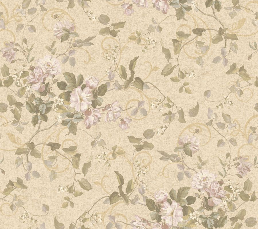 York Wallcoverings GN2458 Orange and Yellow Book Floral Branch Wallpaper