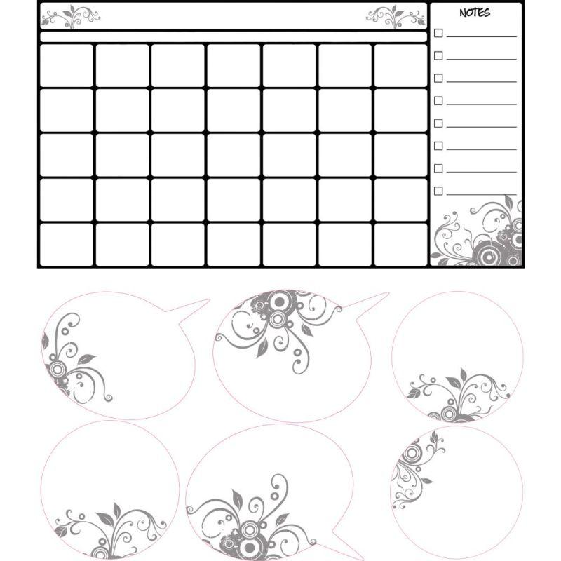 York Wallcoverings RMK2382SCS RoomMates Universal Calendar Dry Erase Peel & Stic Deal