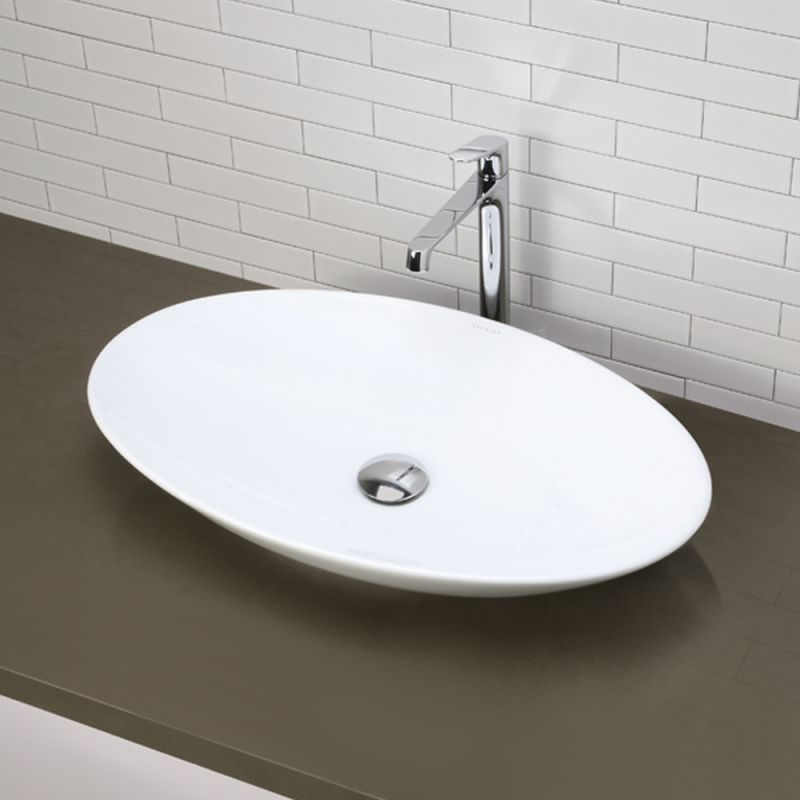 Decolav Sinks : DecoLav 1448-CWH Ceramic White Bathroom Sink - Build.com