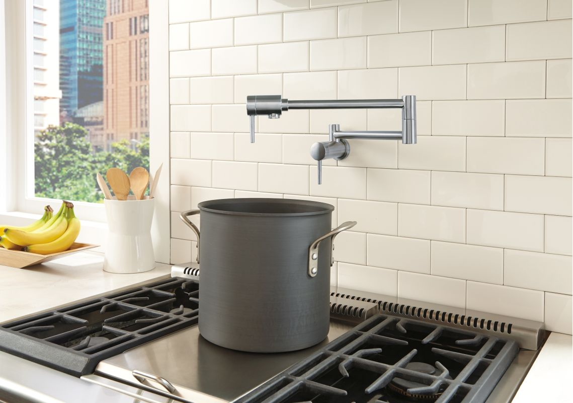 Delta 1165lf pot filler for Craftsman style kitchen faucets