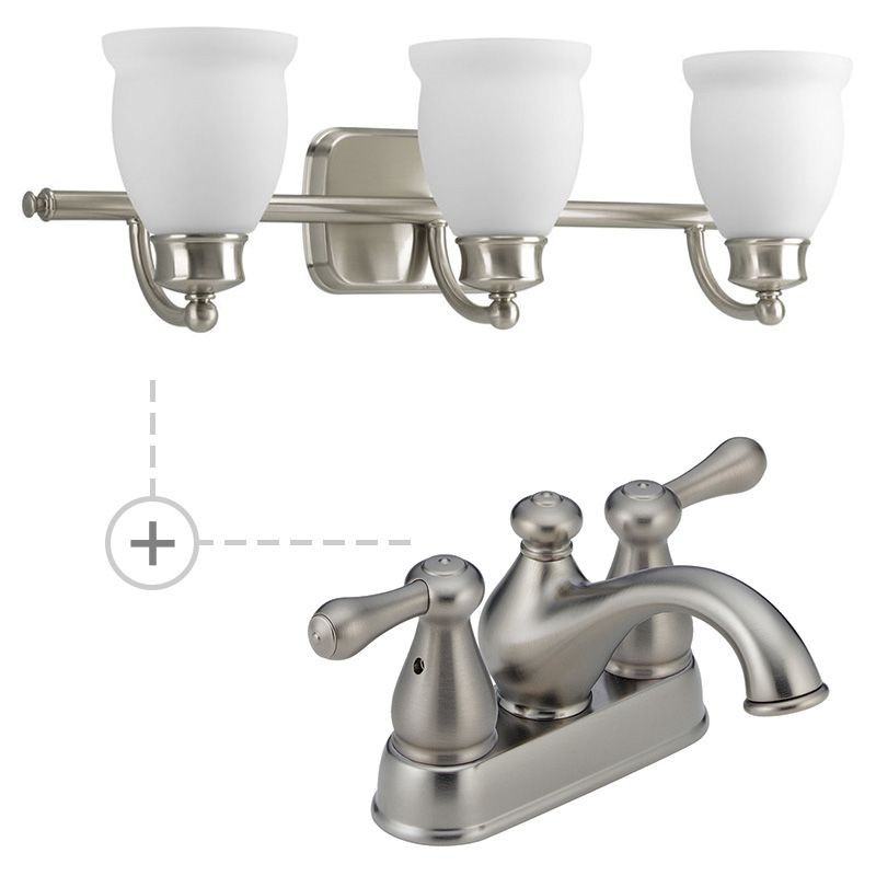 matching bathroom fixture sets delta 2578lf 278ss p2995 09 brilliance stainless build 19429