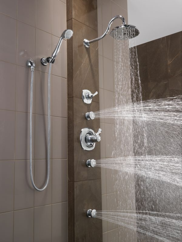 arin thermostatic shower system with hand shower 6 jets. shower ...
