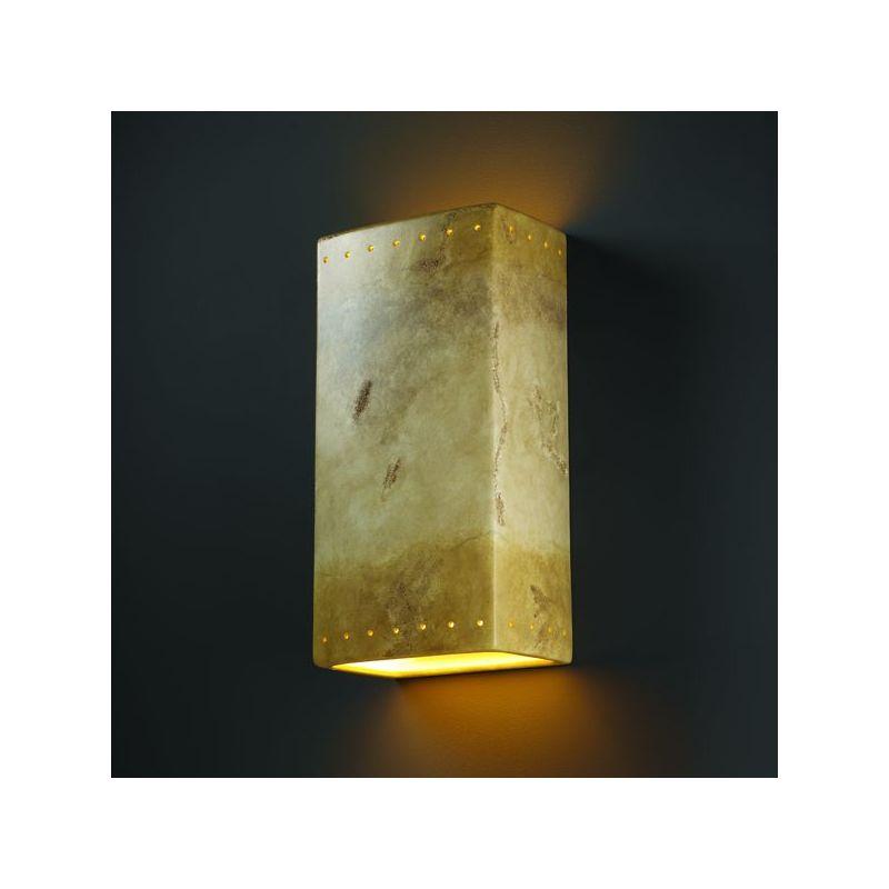 Justice Design Group CER-1185W-CKC Celadon Green Crackle Two Light 21 ...
