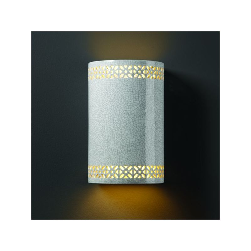 Justice Design Group CER-7805-CKC Celadon Green Crackle Single Light ...