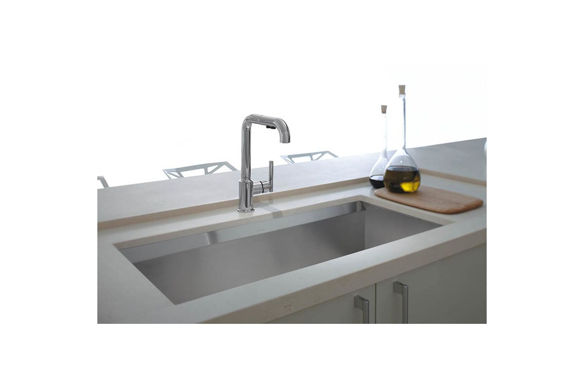 Kohler Stainless Kitchen Sink : Kohler K-3673-NA Stainless Steel Kitchen Sink - Build.com